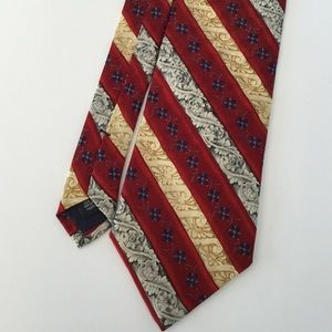Jos. A. Banks Men's Silk Tie Red Gold  Corporate